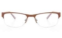 ZB ZB022 Unisex Semi-rimless Square Optical Glasses
