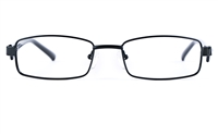 Poesia 6628 Unisex Rectangle Full Rim Optical Glasses